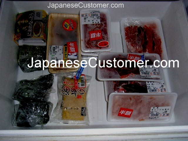 Inside a Japanese household freezer Copyright Peter Hanami 2005