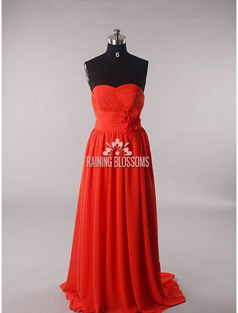 Taffeta Sweetheart Neckline A-Line Evening Dress with Floral Ruched Waistline