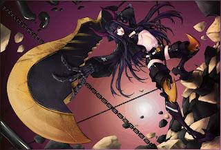 Black Gold Saw Arm Guard Sword Chain Anime Girl HD Wallapper Desktop PC Background 1722