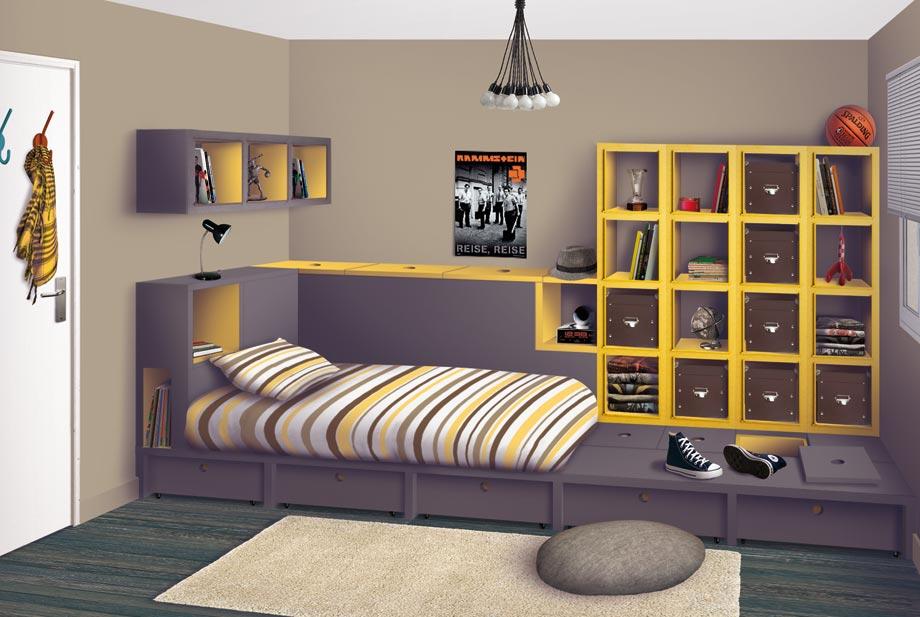 Arte e mil ideias id ias de decora o para quarto teen for Chambre 0 decibel