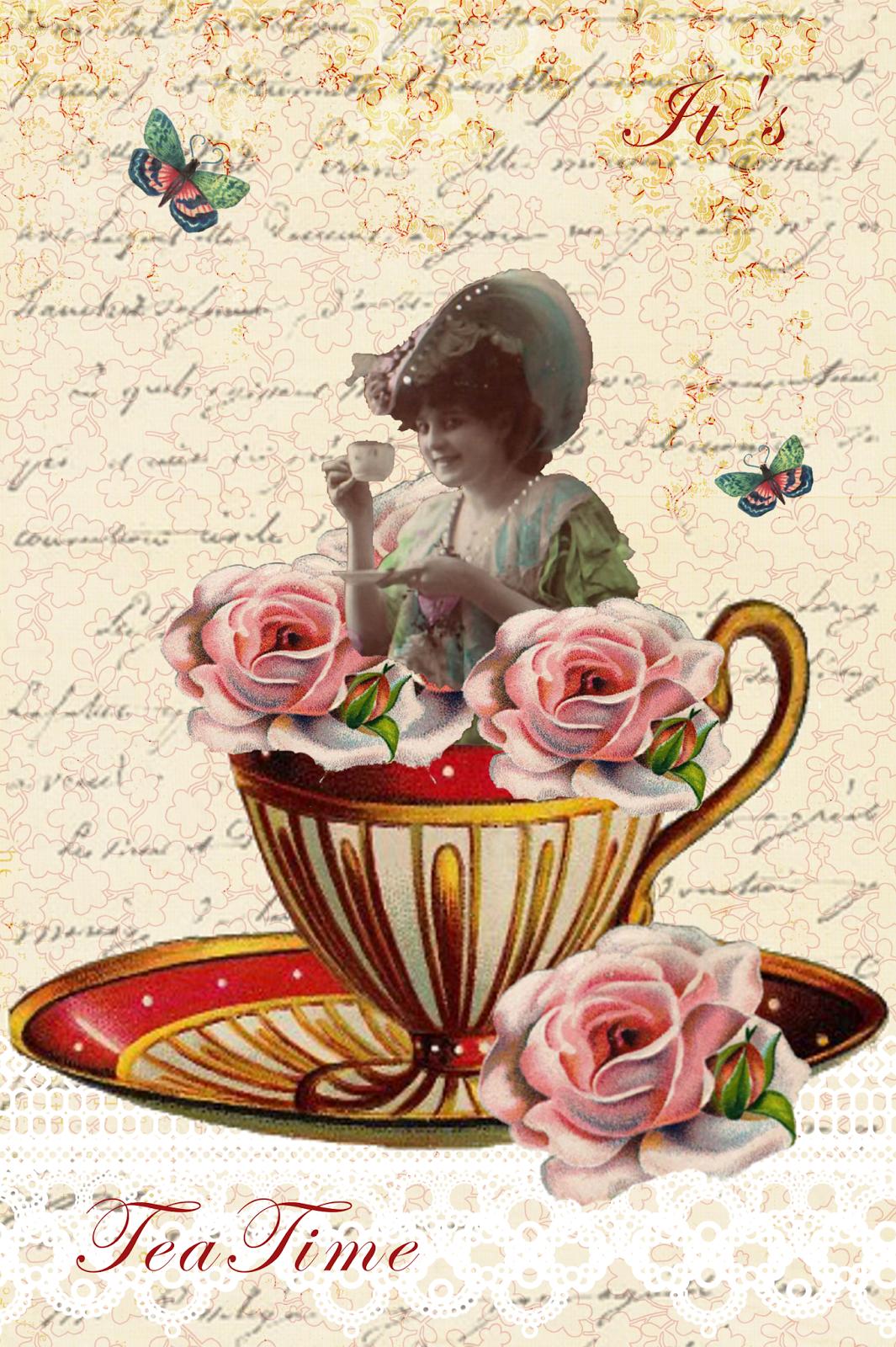 Victorian Tea Party Clip Art - Cliparts