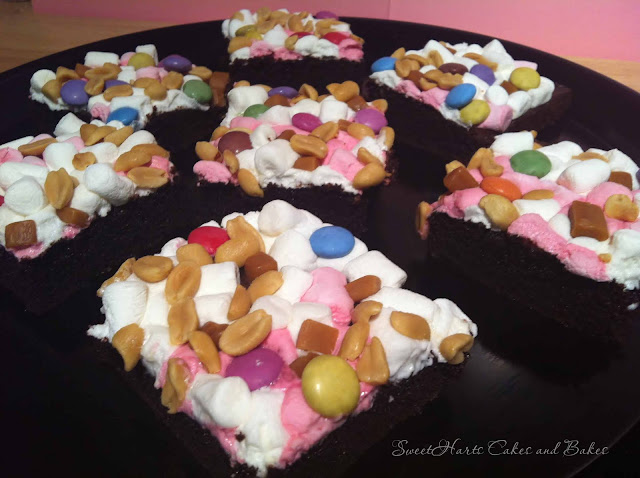 Candy covered brownies