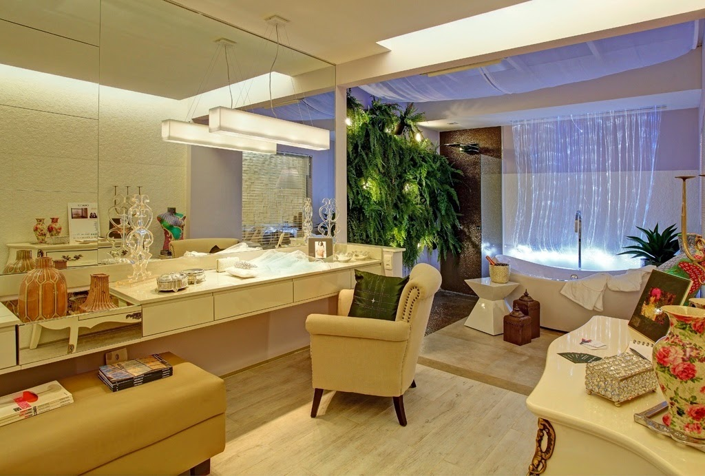 jardim vertical na sala : jardim vertical na sala:Banheiros/lavabos com jardins de inverno e verticais – veja modelos