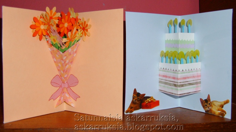Occasional crafts kittens flowers and cake kittens flowers and cake simple cards mightylinksfo