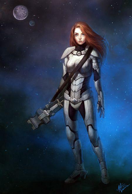 Katie de Souza ilustrações fantasia games mulheres Garota de ficção científica
