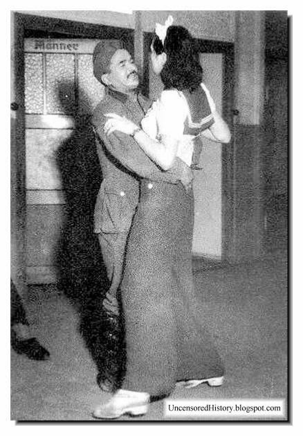 German soldier embrace French girl