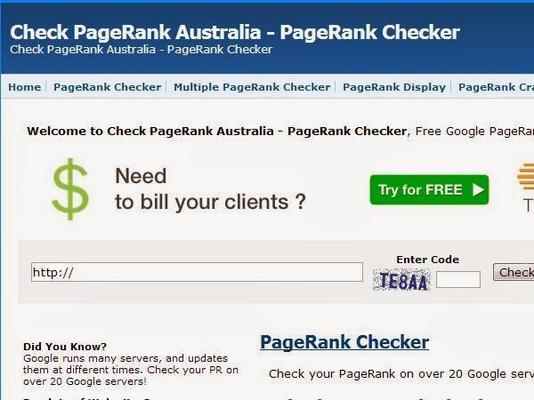 Google Checkpagerank.com.au