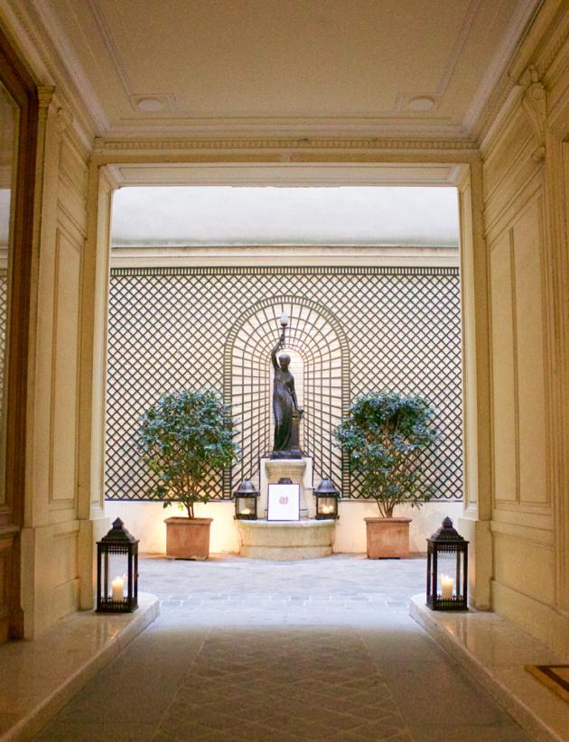 Courtyard statue at Caroline De Marchi