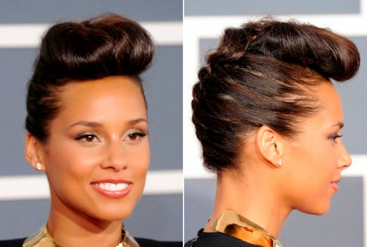 Alicia Keys French Braid Hairstyles