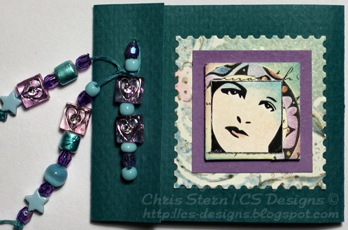 Arty Expression digital stamp design for atcs, inchies and handmade books
