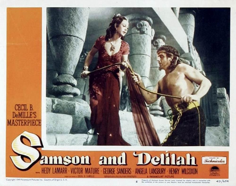 100 years of cinema lobby cards samson and delilah 1949