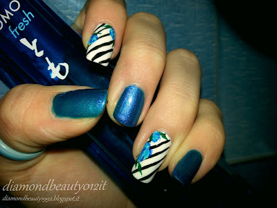 tutorial lady stripe nails