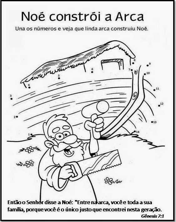 Atividade de Noé e a arca para colorir