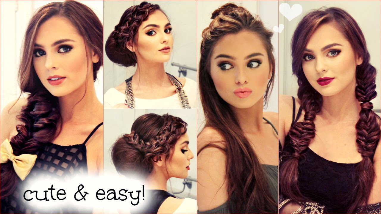 SIMPLE FALL HAIRSTYLE CUTE EASY NO HEAT HAIRSTYLES FOR FALL 2015