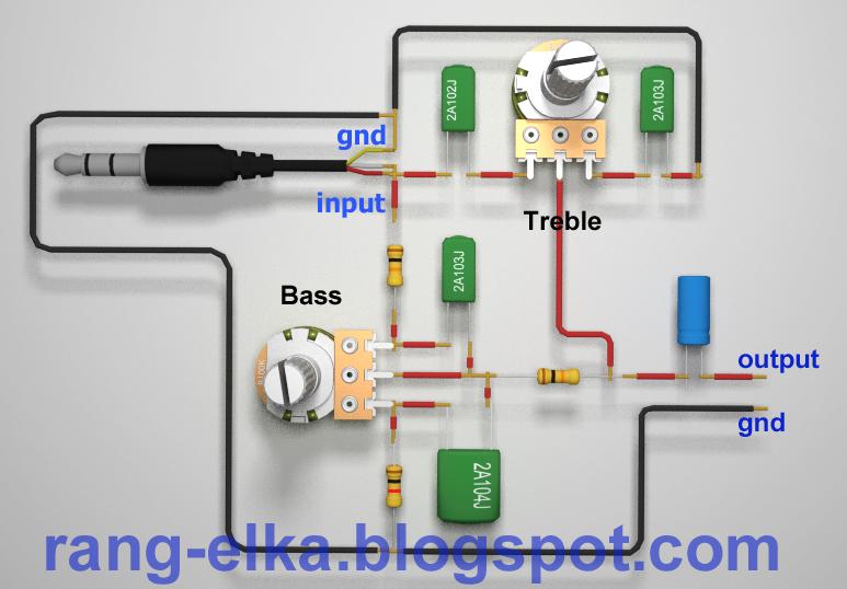 Merakit rangkaian elektronika: 05 Rangkaian tone kontrol