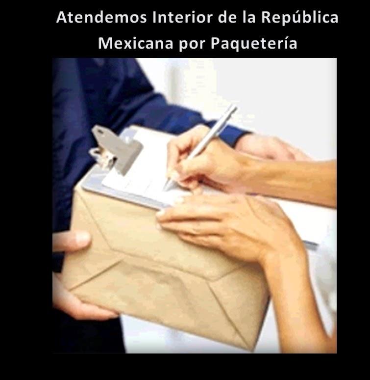 Atendemos Interior de la República Mexicana por Paquetería 24Hrs.