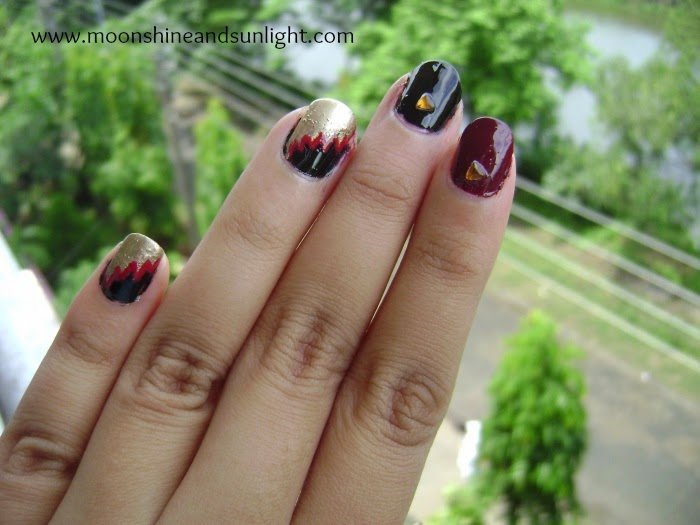Nail art inspired By a Monisha Jaising gown, indian fashion week, bridal week