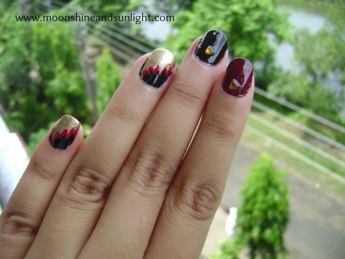 Nail art inspired By a Monisha Jaising gown, indian fashion week, bridal week