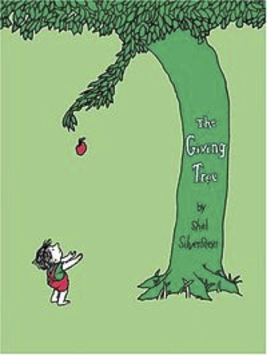 """the giving tree by shel silverstein essay The narrative """"the giving tree """" is a book written by shel silverstein that is about the relationship between a tree and a male child in the beginning of the narrative the male child and the tree spend a batch of clip together holding merriment."""