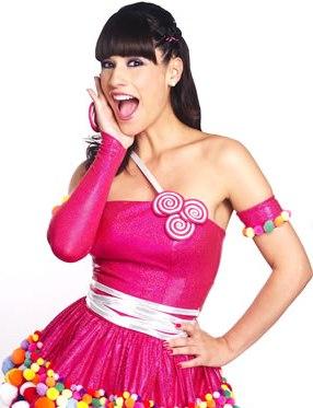 María Pía Copello vestida como animadora infantil