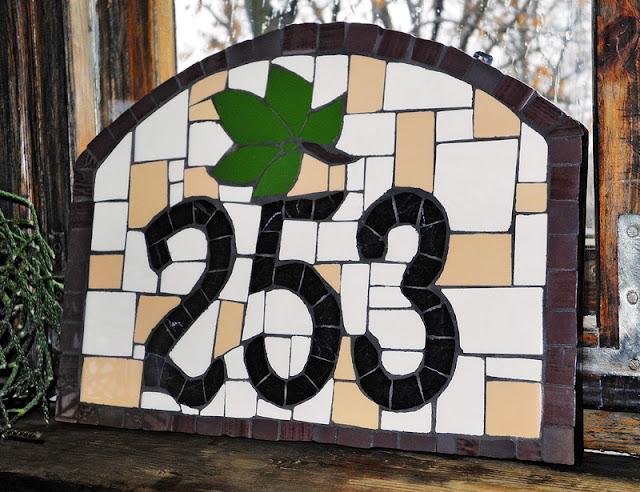 mozaika - numer domu