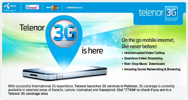 Telenor 3G Free Trick and Telenor 3G TV Stream
