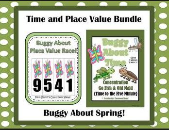 Buggy About Springtime Math Bundled Centers For Common Core