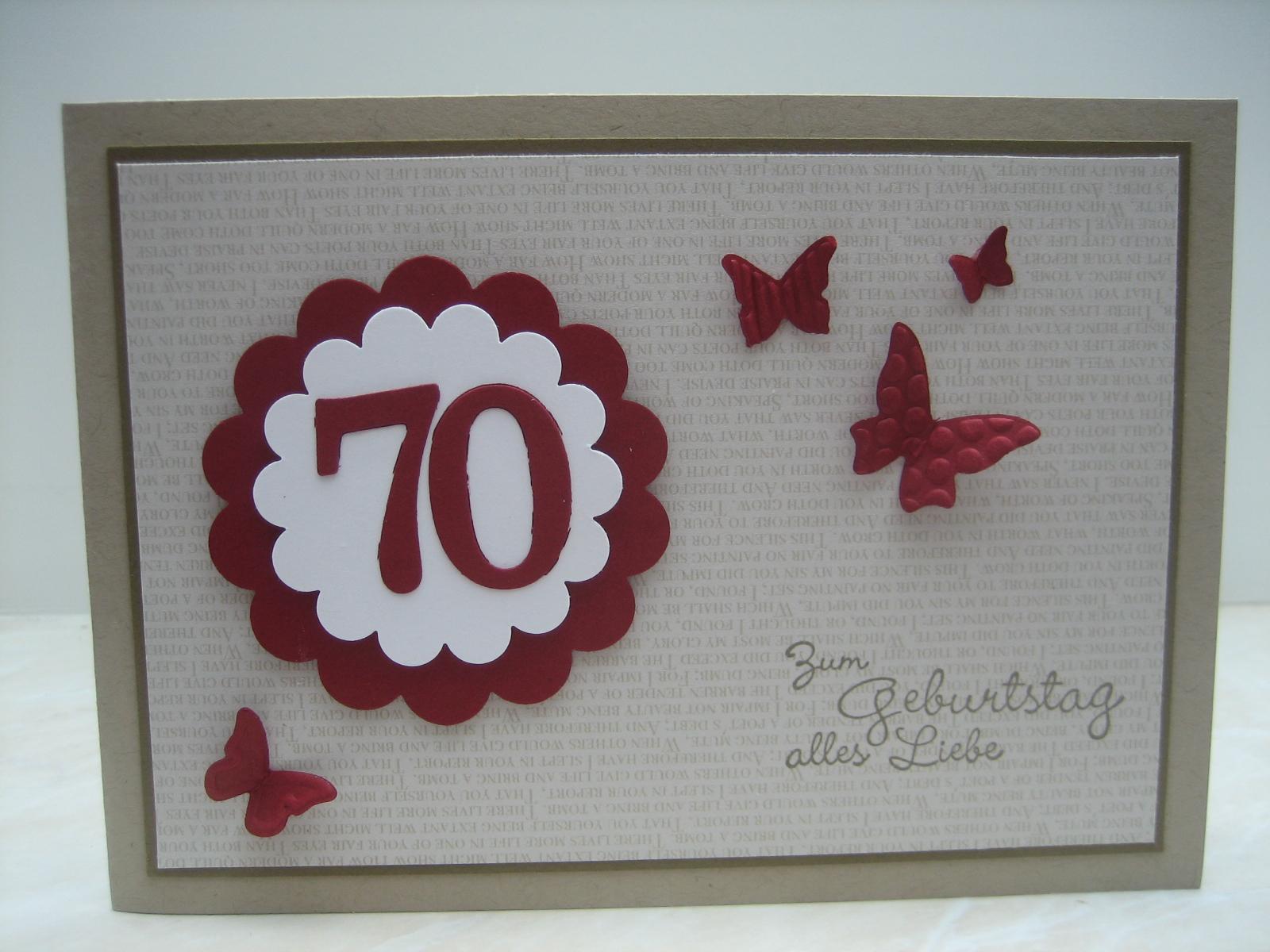 Ingeborgs bastelecke 70 geburtstag for Einladung 70 geburtstag basteln