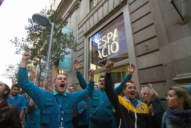 La huelga de técnicos de Telefónica continúa pese al pacto de los sindicatos mayoritarios