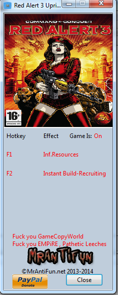 Red Alert 3 V1.12 Trainer +3 MrAntiFun