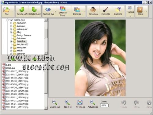 contoh gambar editan photo! editor 1.0