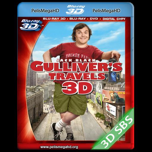 LOS VIAJES DE GULLIVER (2010) FULL 3D SBS 1080P HD MKV ESPAÑOL LATINO