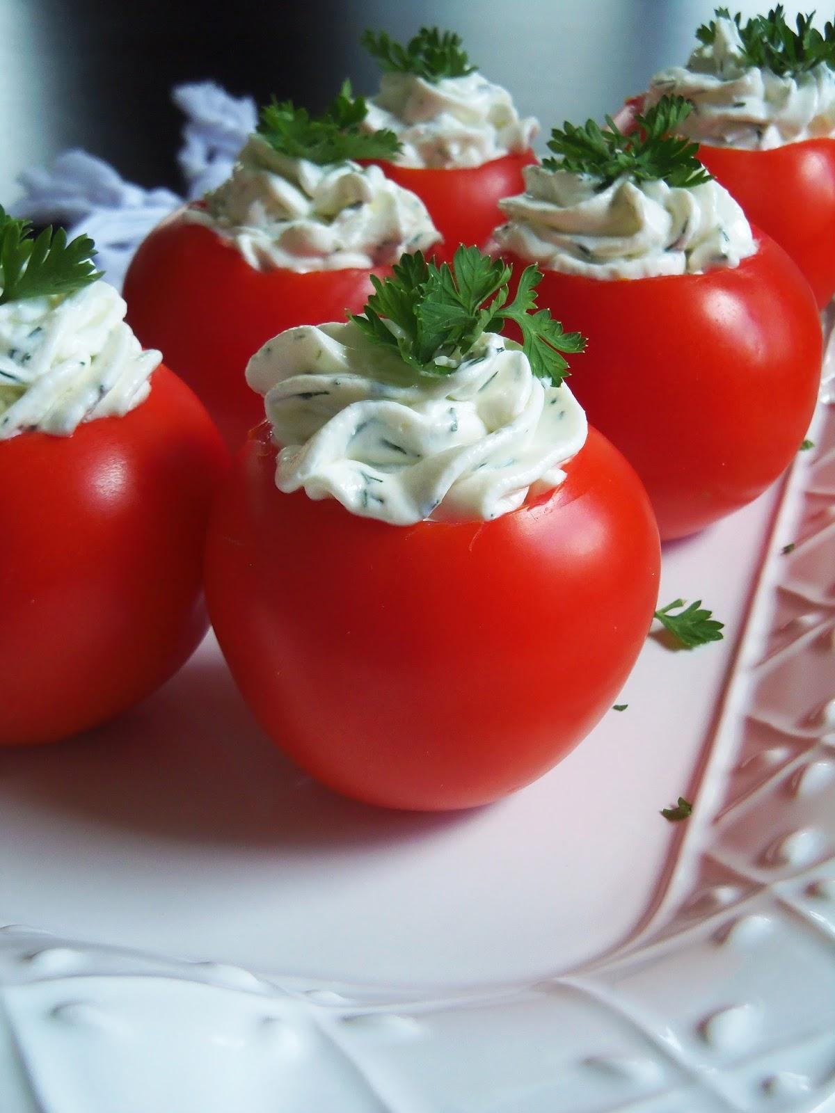 Simply Romanesco: Goat Cheese Stuffed Tomatoes