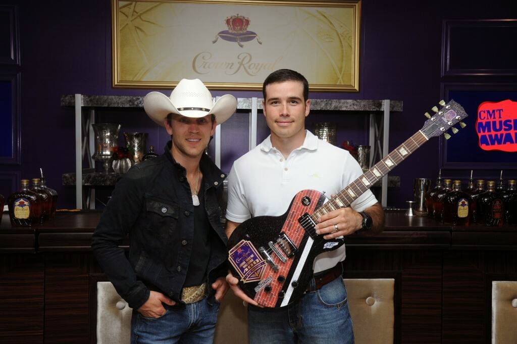 Justin Moore and Crown Royal'Your Name Here' Winner John Wayne Walding