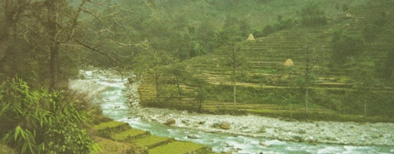 Modi Khola and terraces