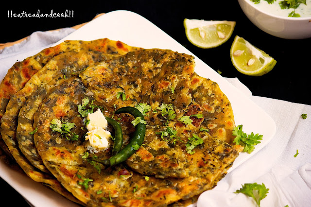 simple and easy methi paratha with dried fenugreek leaves recipe