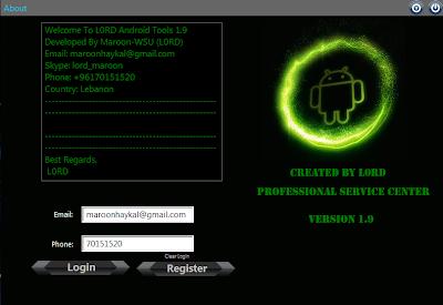 L0RD Android Tool 1.9 untuk repair IMEI MTK , Root , Wipe APK Install