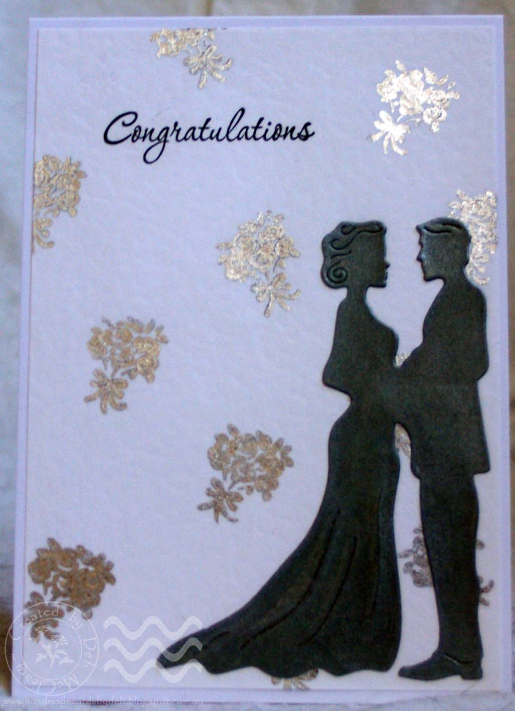 Handmade Cards By Deb A Special Order Wedding Card