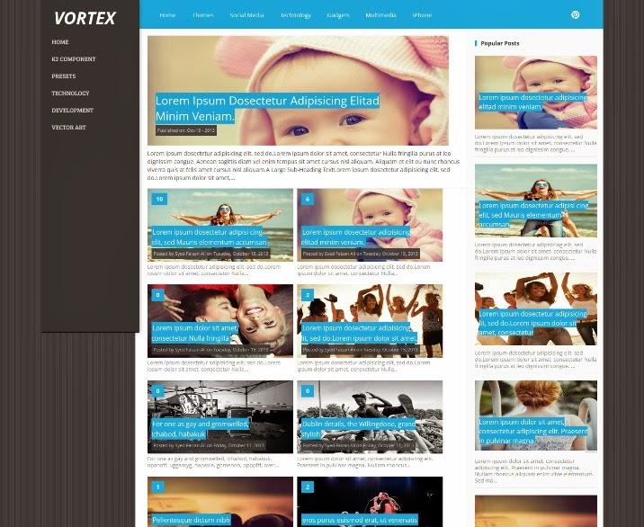 Vortex Responsive Blogger Template