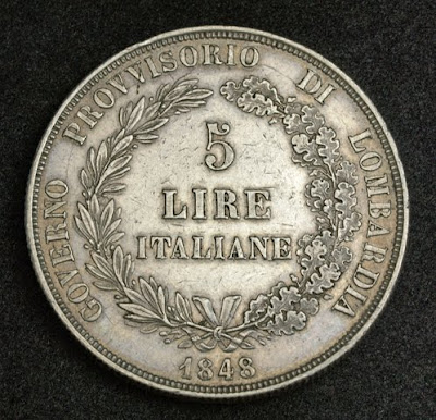 Italian States coins Lombardy Venetia Lire Silver coin