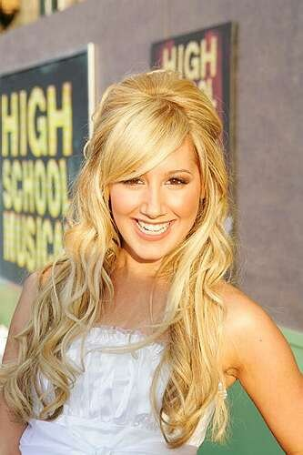 Ashley tisdale long blonde hair