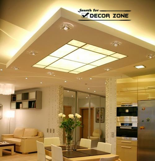 25 original false ceiling designs 2017 integrated  : plasterboard false ceiling design for dining table from www.decor-zoom.com size 500 x 520 jpeg 47kB