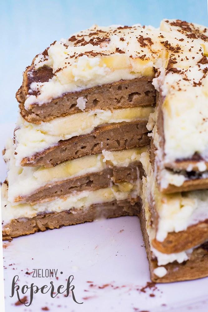 Przepis na orkiszowe tiramisu pancakes z bananami