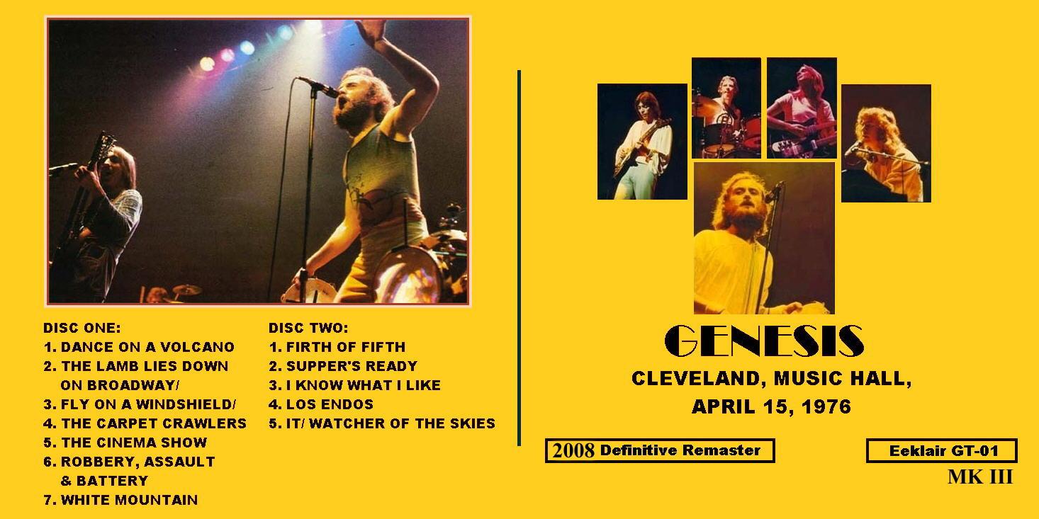 Genesis - 1976-04-15 - Cleveland, OH (FM/FLAC)