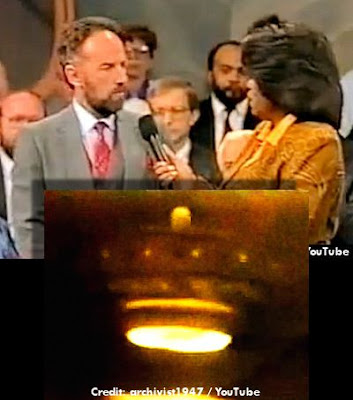Ed Walters On Oprah with UFO Superimposed 12-5-1990