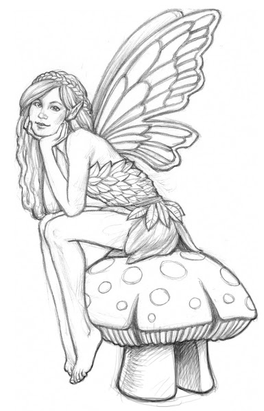 Beautiful Fairy Coloring Pages Adult