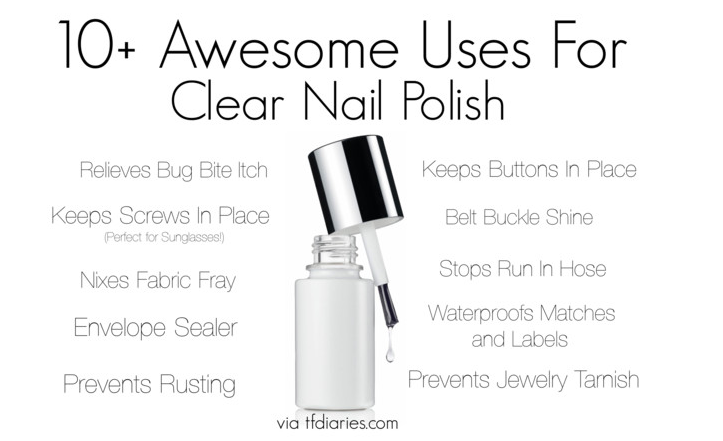 other uses for clear nail polish