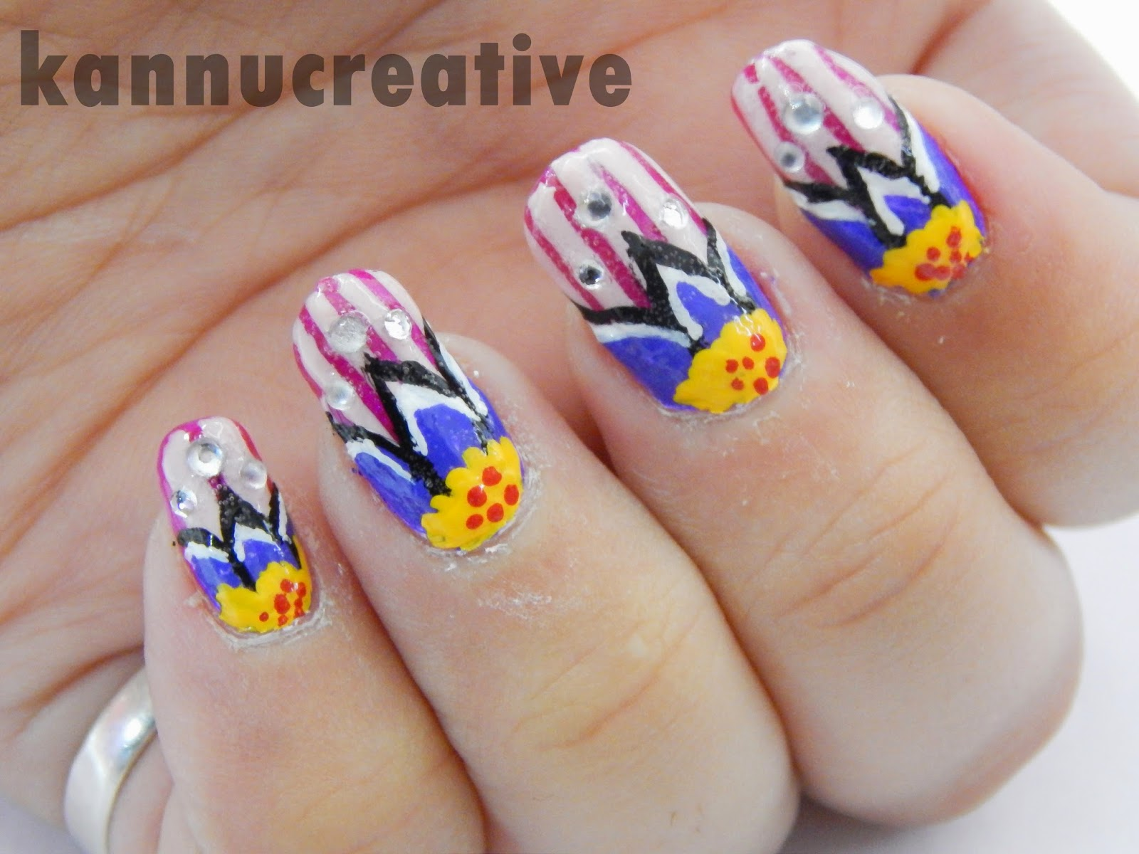 Her Creative Palace Nail Art Today Bright Tulip Nail Art Design
