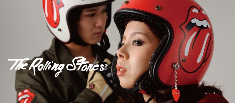THE ROLLING STONES LICENSED HELMET and MOTORCYCLE ITEMS by DAMMTRAX JAPAN CRAZE GENUINE CUSTOM