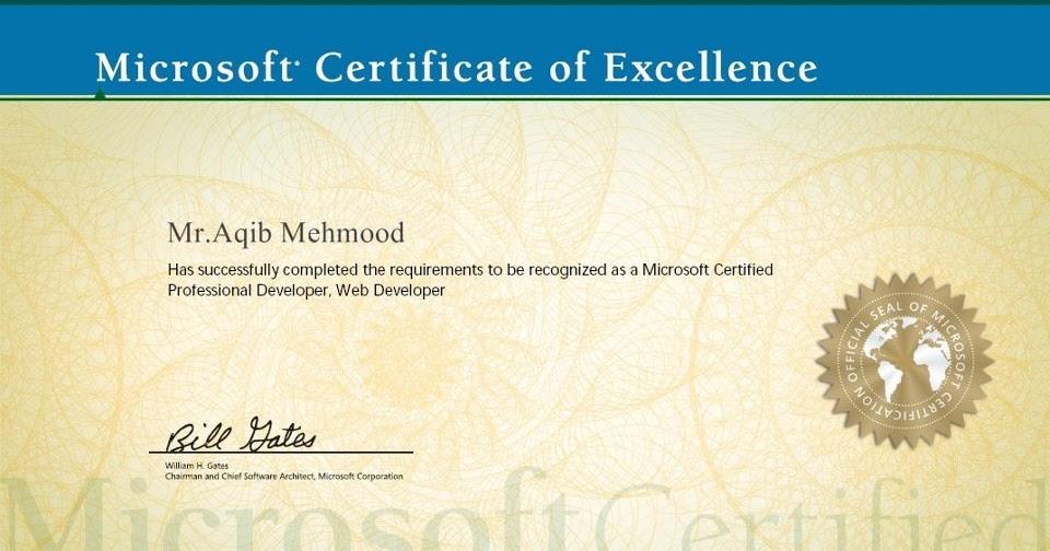 Microsoft Certificate Of Excellence - Unitedijawstates.com